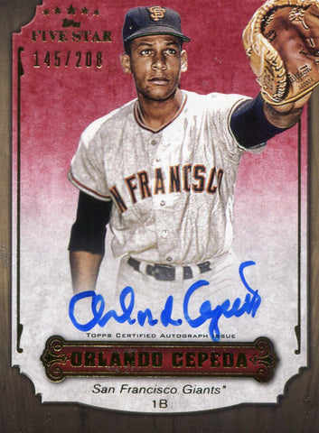 Orlando Cepeda Autographed Topps Card #145/208