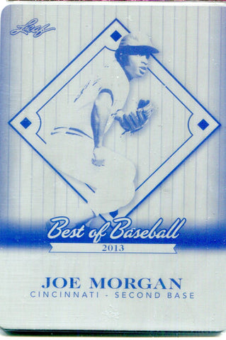 Joe Morgan 2013 Leaf Best of Baseball Black Plate #1/1