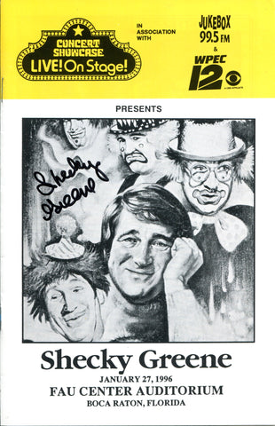 Shecky Greene Autographed Program
