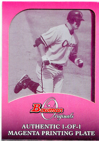 Jim Thome 2006 Bowman Originals Magenta Printing Plate Unsigned Card #1/1