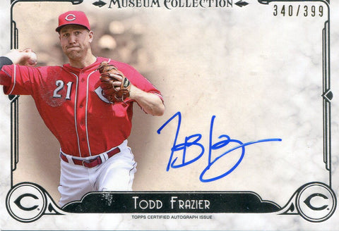 Todd Frazier Autographed Topps Card #340/399