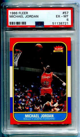 Michael Jordan 1986 Fleer Rookie Card (PSA)