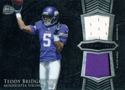 Teddy Bridgewater 2014 Bowman Reflection Rookie Jersey Card