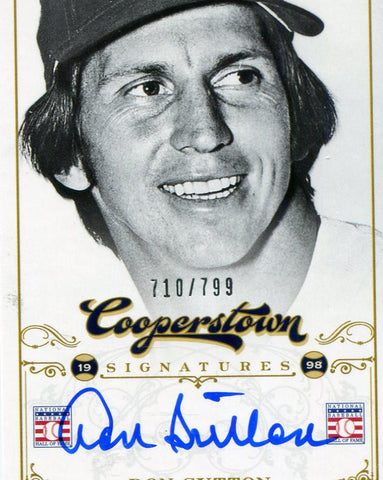 Don Sutton Autographed Panini Card #710/799