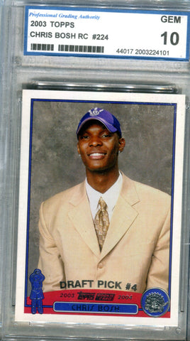 Chris Bosh 2003 Topps Rookie Card PGA 10