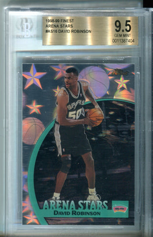David Robinson 1998 Topps Finest Card BGS 9.5