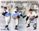 Dusty Rhodes Johnny Podres & Don Larsen Autographed 8x10 Photo