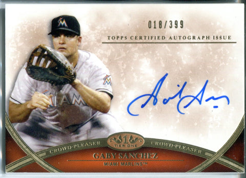 Gaby Sanchez Autographed Tier One Topps Card #18/399
