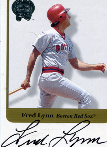 Fred Lynn Autographed Fleer Card