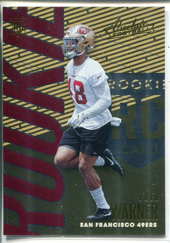 Fred Warner 2018 Panini Absolute Football Rookie Card