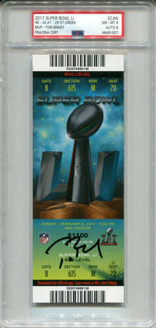 Tom Brady Autographed 2017 Super Bowl LI Ticket (PSA)