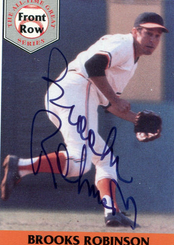 Brooks Robinson Autographed Front Row Card