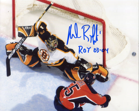 "Andrew Raycroft Autographed ""ROY 03-04"" 8x10 Photo"