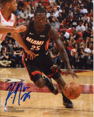 Kendrick Nunn Autographed Vs Rockets 8x10 Photo