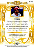 Pete Rose 2013 Leaf Sports Heroes Autographed Card #11/25