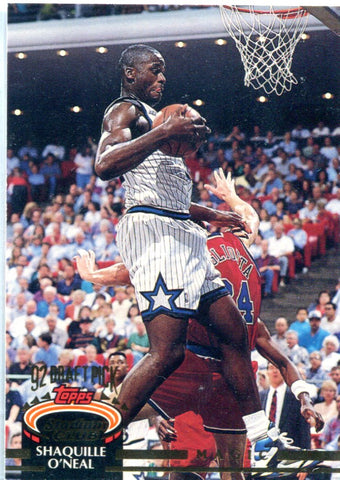 Shaquille O'Neal 1992-93 Topps Stadium Club Unsigned Rookie Card