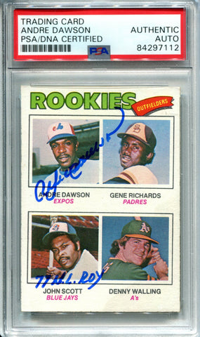 "Andre Dawson ""77 NL ROY"" Autographed 1977 Topps Rookie Card (PSA)"