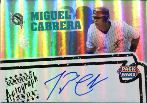 Miguel Cabrera Autographed Topps Card