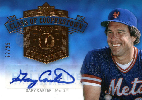 Gary Carter Autographed Upper Deck Card #22/25