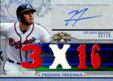 Freddie Freeman 2014 Topps Triple Threads Game Used/Autgraphed Card #5/18