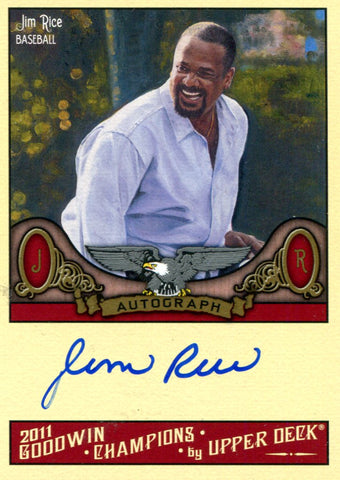 Jim Rice Autographed Upper Deck Card