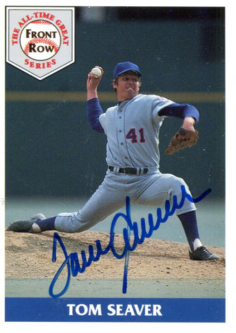 Tom Seaver Autographed Front Row Card #886/5000