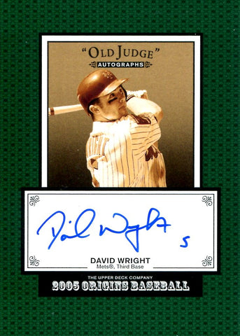 David Wright 2005 Origins Baseball Autographed Card