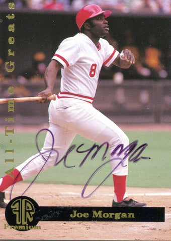 Joe Morgan Autographed Spectrum Card #455/2000