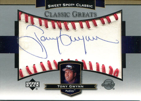 Tony Gwynn Autographed Upper Deck Card