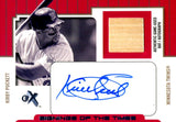 Kirby Puckett 2004 Fleer Signings of the Times Game-Used Bat/Autographed Card #81/84
