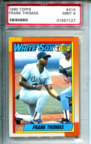 Frank Thomas 1990 Topps Draft Pick Rookie Card (PSA)