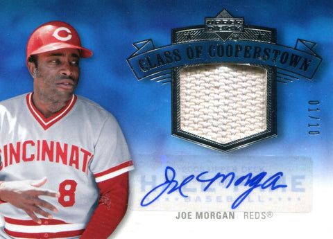 Joe Morgan Autographed Donruss Card #1/10