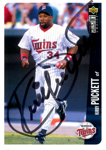 Kirby Puckett 1995 Upper Deck Autographed Card