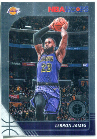 LeBron James NBA Hoops Panini Card