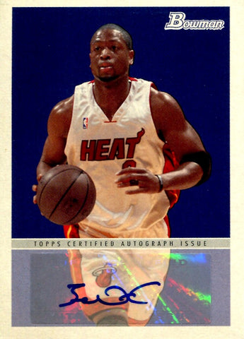 Dwyane Wade 2009 Topps Bowman Autographed Card