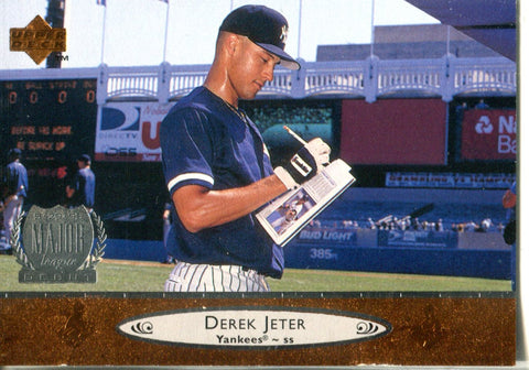 Derek Jeter 1996 Upper Deck Major League Debut Card