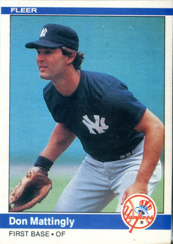 Don Mattingly Fleer 1984 Card