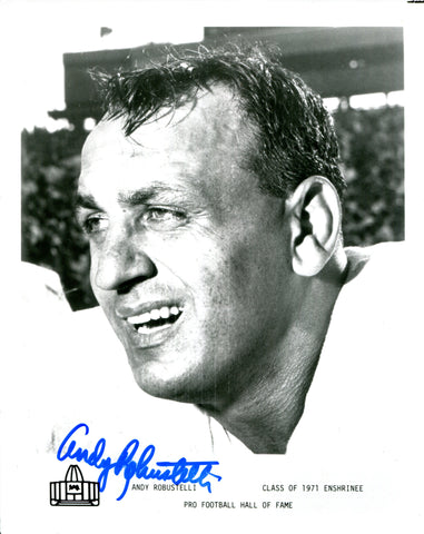 Andy Robustelli Autographed 8x10 Photo