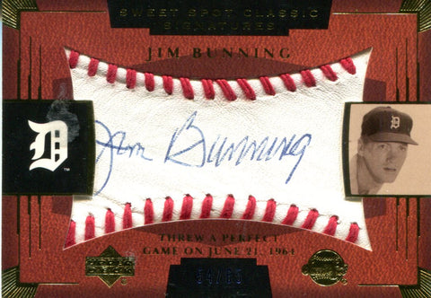 Jim Bunning Autographed Upper Deck Card #54/65