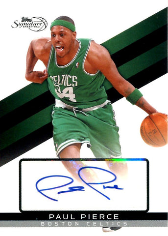 Paul Pierce 2009 Topps Signatures Autographed Card #1015/1999