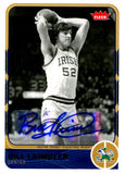 Bill Laimbeer 2011-12 Fleer Autographed Topps Card