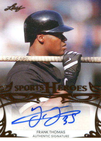 Frank Thomas Autographed Leaf Card