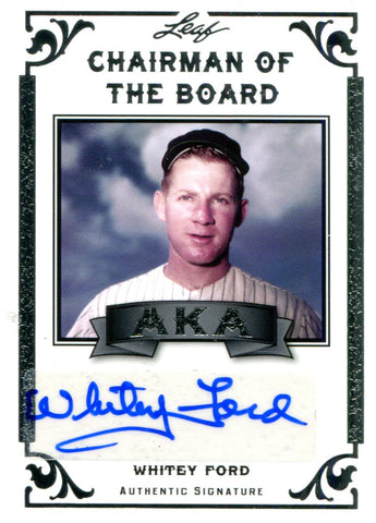 Whitey Ford Autographed Leaf Card #1/10