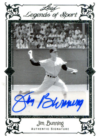 Jim Bunning Autographed Leaf Card #6/10