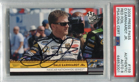 Dale Earnhardt Jr. Autographed 2009 Press Pass Red Foil Card (PSA)
