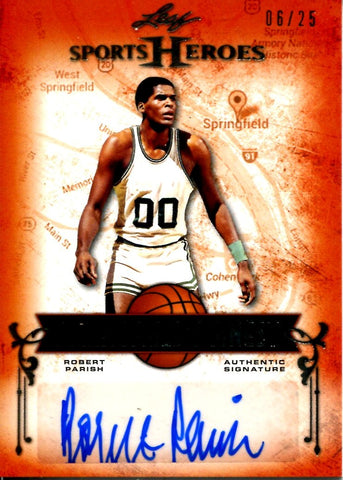 Robert Parish 2013 Leaf Springfield's Finest Autographed Card #6/25