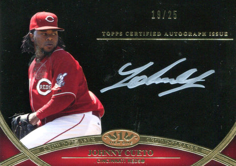 Johnny Cueto Autographed Topps Card #19/25