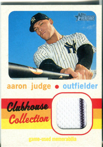 Aaron Judge 2020 Topps Heritage Clubhouse Collection Jersey Relic Card