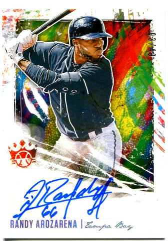 Randy Arozarena 2020 Panini Diamond Kings Baseball Autographed Rookie Card #3/49