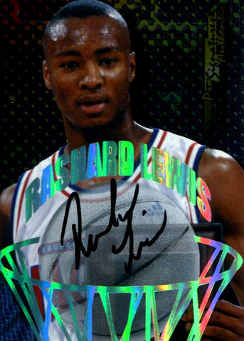 Rashard Lewis 1998 Collector's Edge Autographed Rookie Card